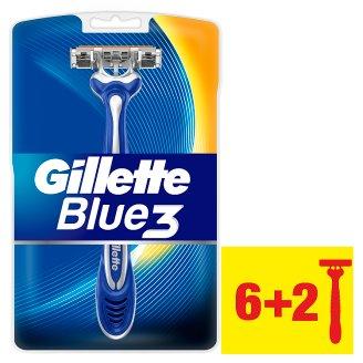 Gillette Blue3 Men's Disposable Razors, 6+2 Pack