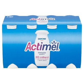 Danone Actimel Yoghurt Milk with Vitamins B6 and D - Sweetened 8 x 100 g