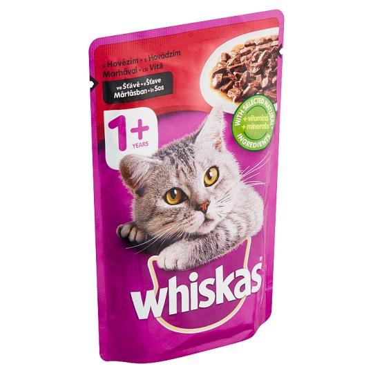 Whiskas S hovädzím mäsom v šťave 100 g