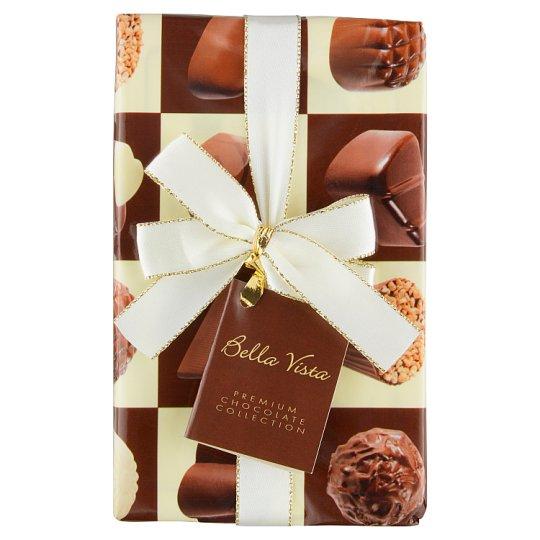 Bella Vista Zmes plnených čokoládových praliniek z horkej, mliečnej a bielej čokolády 216 g