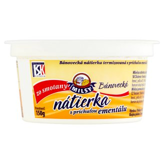 Milsy Bánovecká Spread of Emmental Cheese Flavour from Cream 150 g