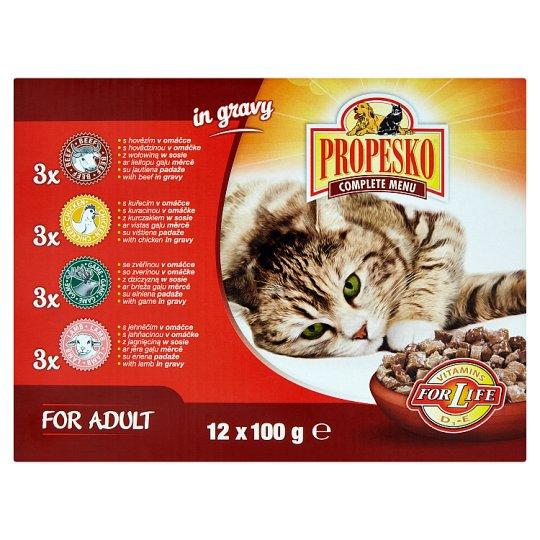 Propesko Kompletné krmivo pre dospelé mačky všetkých plemien 12 x 100 g