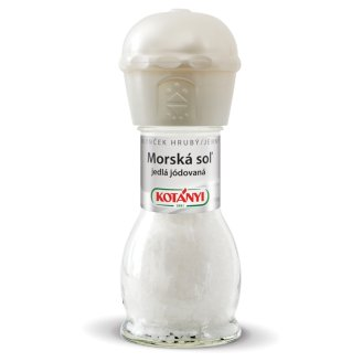 Kotányi Mlynček Morská soľ jedlá jódovaná 92 g
