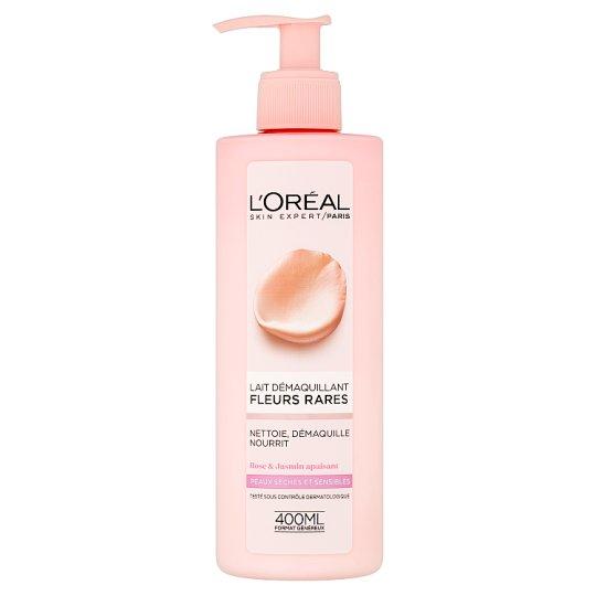 L'Oréal Paris Odličovacie mlieko s výťažkami vzácnych kvetov pre suchú a citlivú pleť 400 ml
