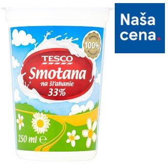 Tesco Smotana na šľahanie 33% 250 ml
