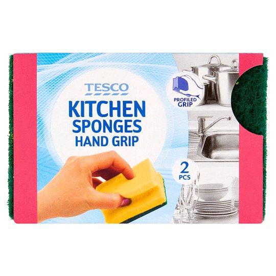 Tesco Kitchen Sponges Hand Grip 2 pcs