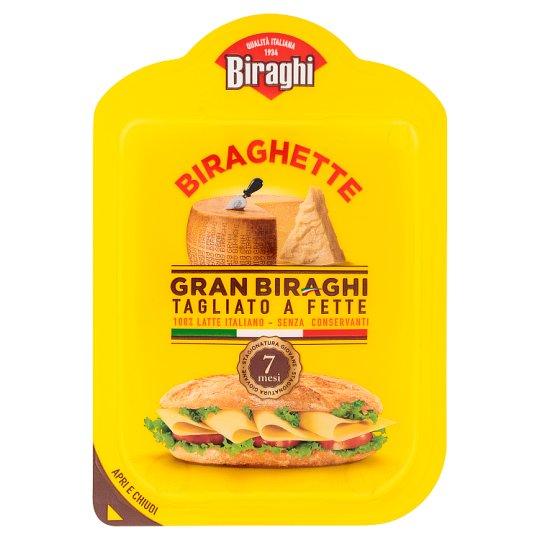 Biraghi Biraghette Gran Biraghi Medium-Fat Ripened Hard Cheese Slices 120 g
