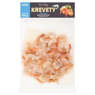 Landis Krevety biele s pridanou vodou hlbokozmrazené glazúrované 400 g