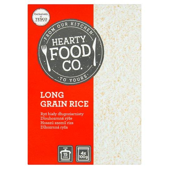 Hearty Food Co. Long Grain Rice 4 x 100 g