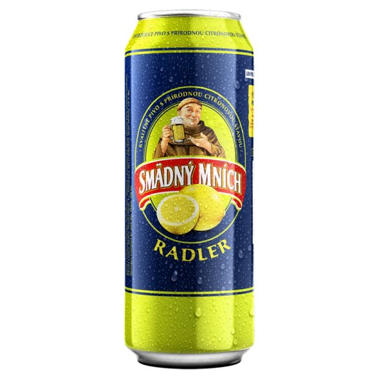 Smädný Mních Radler Beer Alcoholic Drink Flavored with Lemon 500 ml