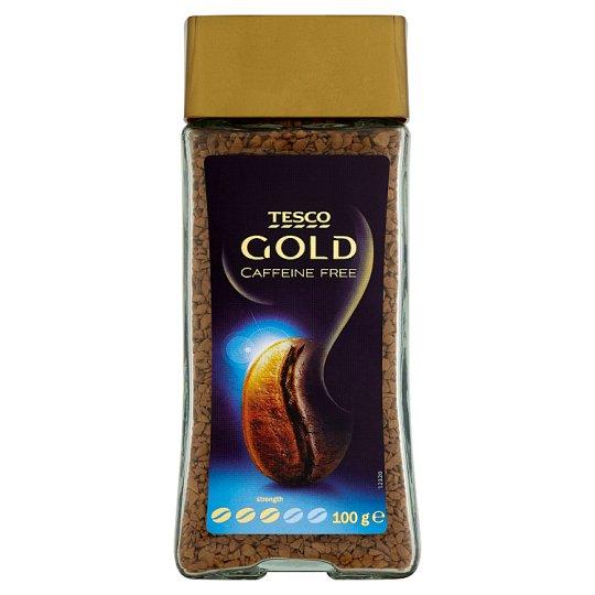 Tesco Gold rozpustná káva bez kofeínu sušená mrazom 100 g