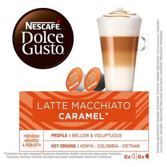 NESCAFÉ Dolce Gusto Latte Macchiato Caramel - Coffee in Capsules - 16 Capsules Packed