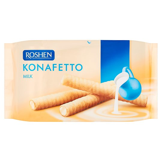 Roshen Konafetto Trubičky s mliečnym krémom 156 g