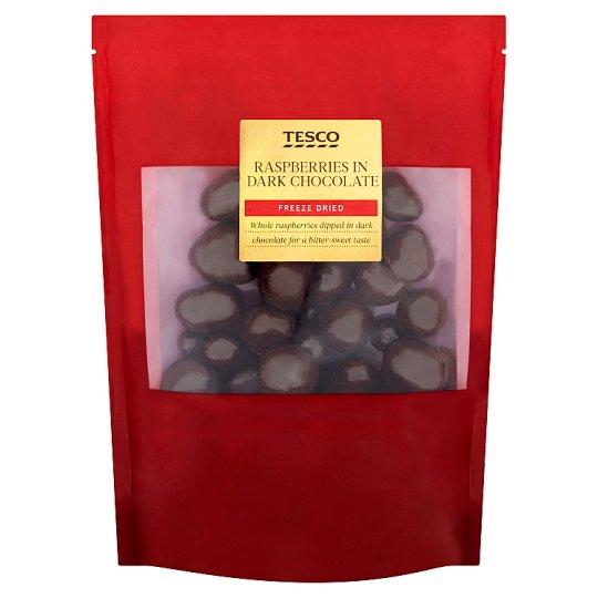 Tesco Lyofilizované maliny v horkej čokoláde 150 g