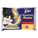 FELIX Sensations Sauces with Bacon-Flavoured Moth, with Lamb with Flavour of Divine 4 x 100 g