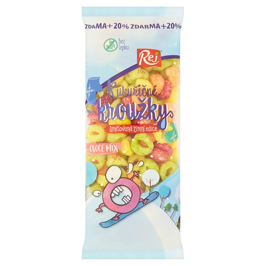 Rej Corn Rings with Fruit Flavour 72 g