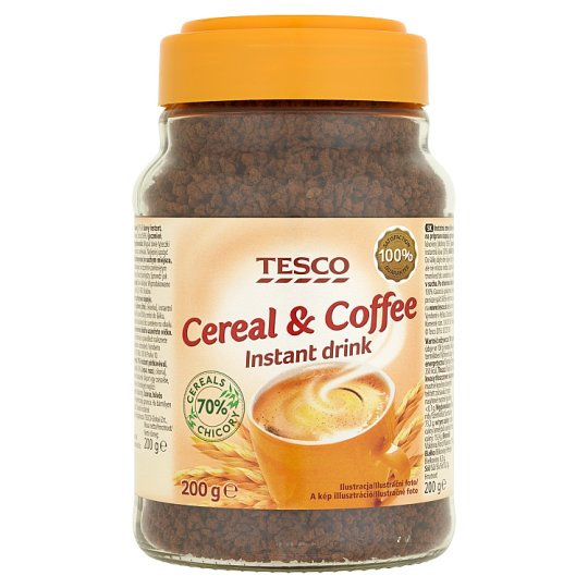 Tesco Instantná zmes kávovín a kávy na prípravu nápoja granulovaná 200 g