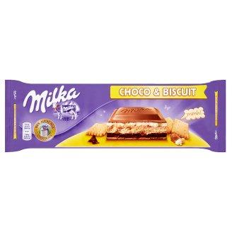 Milka Choco & Biscuit sušienka s krémom v mliečnej čokoláde z alpského mlieka 300 g