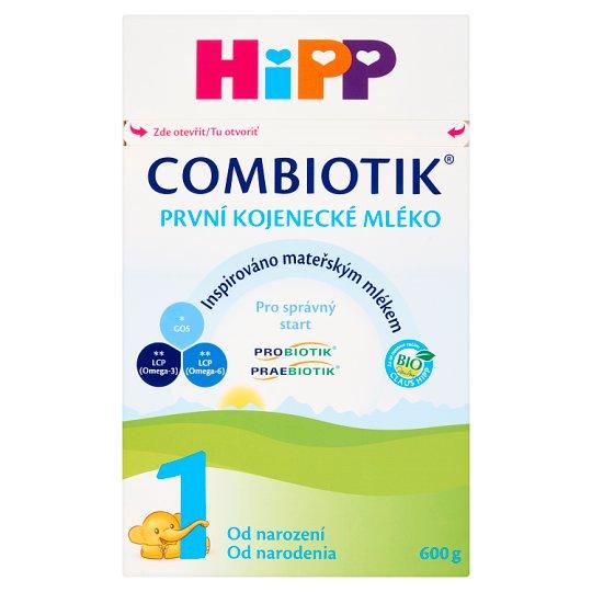 HiPP Combiotik 1 Bio počiatočná mliečna dojčenská výživa od narodenia 600 g