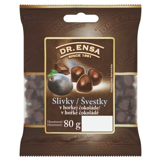 Dr. Ensa Plums in Dark Chocolate 80g