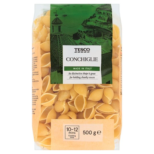 Tesco Conchiglie Dried Egg-Free Semolina Pasta 500 g