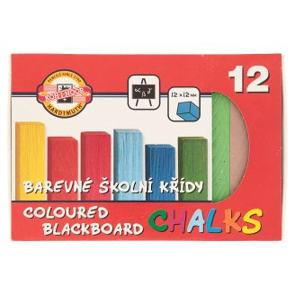 KOH-I-NOOR Coloured Blackboard Chalks 12 x 12 mm 12 pcs