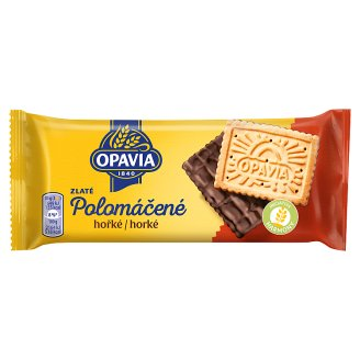 Opavia Zlaté Half-Dipped Dark Milk Biscuits with Butter Flavour 100 g