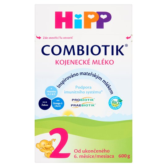 HiPP Combiotik 2 Organic Follow-On Dairy Infant Nutrition 600 g
