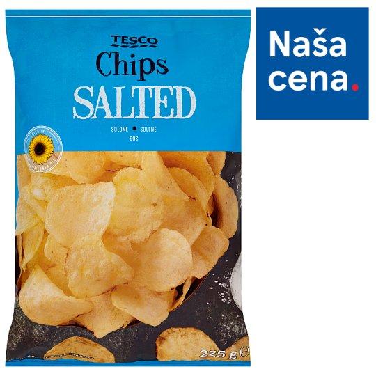 Tesco Smažené zemiakové lupienky solené 225 g