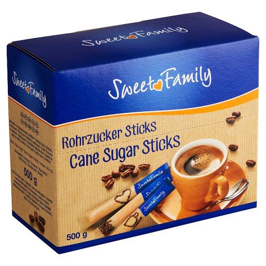 Sweet Family Trstinový cukor v tyčinkách nerafinovaný 100 x 5 g