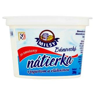 Milsy Bánovecká nátierka s jogurtom a vlákninou 200 g