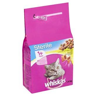 Whiskas Sterile Chutné plnené granule s kuracím mäsom 1,4 kg