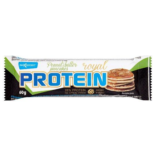 MaxSport Royal Protein Proteínová tyčinka v tmavej kakaovej poleve s arašidovým maslom 60 g