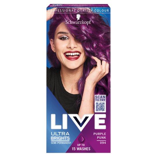 Schwarzkopf Live Ultra Brights or Pastel Hair Color Purple Punk 094