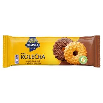 Opavia Zlaté Sušienky s maslovou chuťou polomáčané v mliečnej čokoláde 146 g