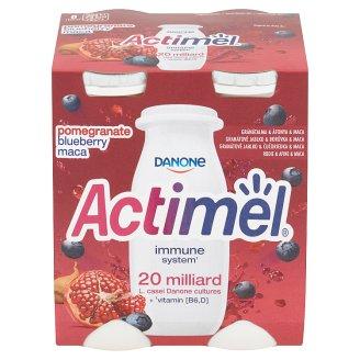 Danone Actimel Jogurtové mlieko s čučoriedkami, granátovým jablkom a maca 4 x 100 g