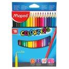 Maped Color'Peps Trojhranné farebné pastelky 18 ks