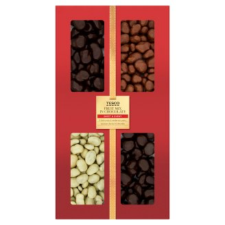 Tesco Fruit Mix in Chocolate 400 g