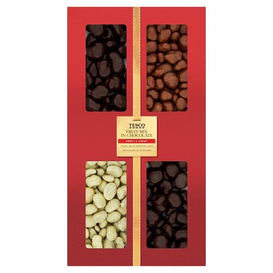 Tesco Fruit Mix in Chocolate 400 g