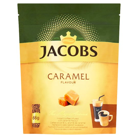 Jacobs Caramel rozpustná aromatizovaná káva 66 g