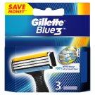 Gillette Blue3 Náhradné Hlavice Na Holiaci Strojček, 3 Kusy