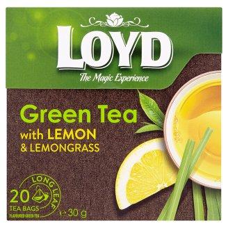 Loyd Zelený čaj s citrónovou kôrou a citrónovou trávou 20 x 1,5 g