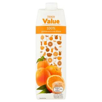 Tesco Value 100% pomarančová šťava 1 l