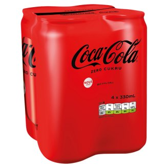 Coca-Cola Zero, 4 x 330 ml