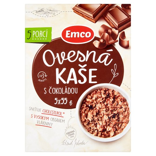 Emco Porridge with Chocolate 5 x 55 g