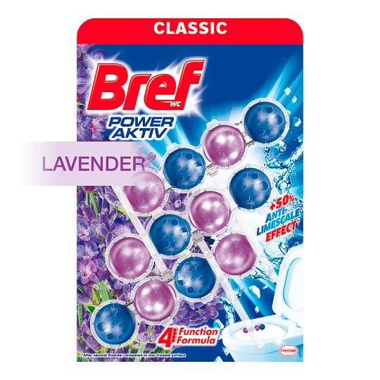 Bref Power Aktiv Lavender Field tuhý WC blok 3 x 50 g