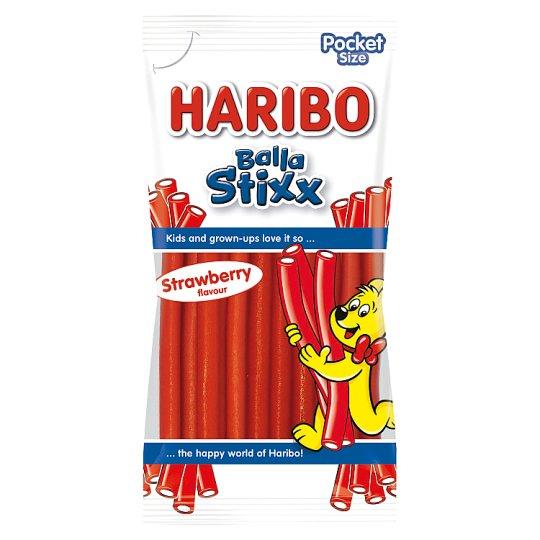 Haribo Balla stixx strawberry želé s ovocnou príchuťou 80 g