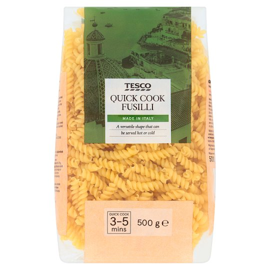 Tesco Quick Cook Fusilli Dried Egg-Free Semolina Pasta 500 g