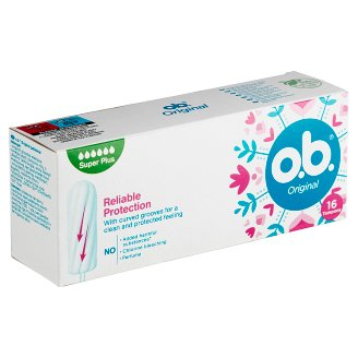 O.B.® Original Tampons Super Plus 16 pcs