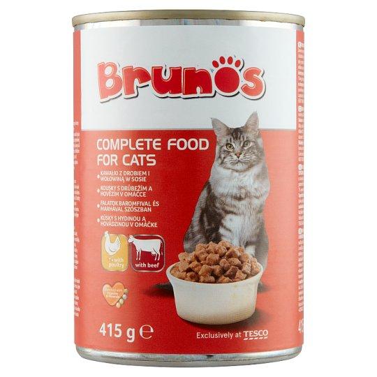 Brunos Kúsky s hydinou a hovädzinou v omáčke 415 g